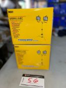 TOOLBOX INDUSTRIES: TWIN HEAD HALOGEN WORKLIGHT, COMPLETE WITH 2 BULBS, #140511