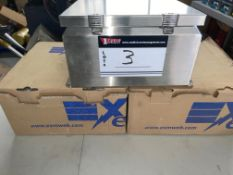 """LOT/(3)EXM S/S BOXES, PN 5412ESSCH, 12"""" X 12"""" X 7""""H, GASKET W/BACKING PLATE,(NEW)"""