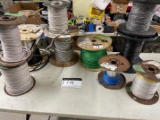 LOT/ASSORTED WIRES, 10 SPOOLS