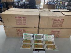 LOT/BRASS SWITCH PLATE COVERS, GLOBE, 300 PCS