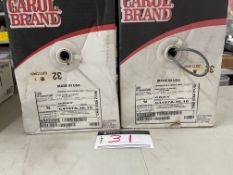 LOT/ (2) CAROL BRAND COMMUNICATION AND CONTROL CABLE, 16 GAUGE, SHIELDED, 1000 FT. PER BOX