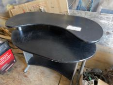BLACK AND SILVER OFFICE DESK