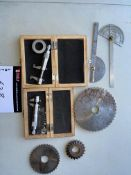 LOT/ MEASURING TOOLS INCLUDING INSIDE MICROMETERS, SS MEASURING DEVICES AND MACHINING CUTTING