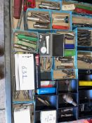 LOT/ MACHINING DRILL BITS, MEASURING DEVICES, DIAL TEST INDICATOR, CHUCKS ETC