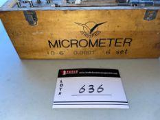 "AEROSPACE MICROMETRE SET, 0-6"", 0.0001"", 6 SET"