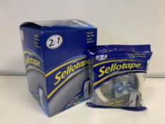 72 X ROLLS OF SELLOTAPE SIZE 24MM X 50MM