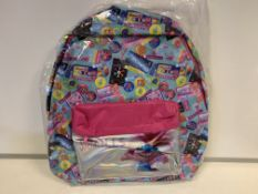 24 X BRAND NEW TROLLS MULTI COLOURED BACK PACKS IN 2 BOXES