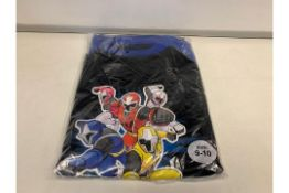 (NO VAT) 18 X POWER RANGERS PJ'S AGE7-8 AND 9-10