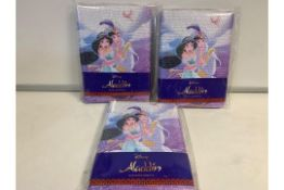 PALLET TO CONTAIN 360 x NEW DISNEY ALADDIN A5 SEQUIN NOTEBOOKS