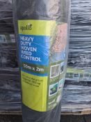 (J19) PALLET TO CONTAIN 45 x APOLO HEAVY DUTY WEED CONTROL 50 X2m. FOR USE UNDER GRAVEL CHIPPINGS,