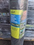 (J21) PALLET TO CONTAIN 42 x APOLO HEAVY DUTY WOVEN WEED CONTROL 50 X2m. FOR USE UNDER GRAVEL