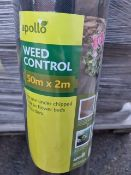 (J15) PALLET TO CONTAIN 49 x APOLLO 50x2M WEED CONTROL. FOR USE UNDER CHIPPED BARK IN FLOWER