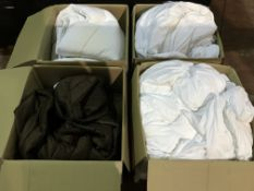 PALLET CONTAINING 12 X BOXES OF BEDDING IE DUVETS, SHEETS, DUVET COVERS ( PLEASE NOTE ITEMS ARE USED