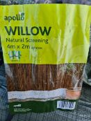(J23) PALLET TO CONTAIN 11 x APOLO WILLOW NATURAL SCREENING. 4x2M. GALVANISED