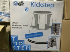 2 X KICKSTEP TOP STEP FOR OFFICE / WAREHOUSE / STORES / HOME