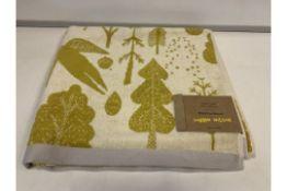 3 X BRAND NEW DONNA WILSON BIRD AND TREE BATH TOWELS SIZE 70 X 125 CM