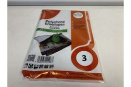 40 X PACKS OF 3 POST SAFE POLYTHENE ENVELOPES SIZE 460MM X 430MM IN 2 BOXES