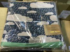 3 X BRAND NEW DONNA WILSON RAINY DAY BATH TOWELS SIZE 70 X 125 CM
