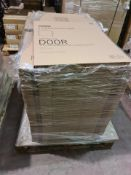 (A24) PALLET TO CONTAIN 70 x NEW GLOSS CREAM SLAB 600MM DOORS