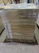 (A2) PALLET TO CONTAIN 105 x NEW 400MM HIGH GLOSS WHITE DOOR/DRAWER PACKS