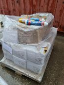 (S108) PALLET TO CONTAIN 480 x SIKASEAL 107 JOINTS & FISSURES 400ML & APPROX 120 VARIOUS TUBES OF