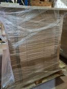 (A1) PALLET TO CONTAIN 72 x NEW GLOSS CREAM SLAB DOORS