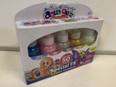 PALLET TO CONTAIN 240 x NEW AQUA GELZ 66 CREATIONS TRANSLUCENT COLOURS - 4 PACK
