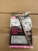 1 x pallet of approx 110 x 12 Fairy drop brow liner - Brown