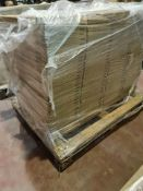 (A26) PALLET TO CONTAIN 140 x NEW GLOSS CREAM SLAB 600MM DOORS