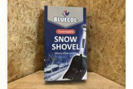 PALLET TO CONTAIN 72 x NEW BLUECOL EXTENDABLE SNOW SHOVELS