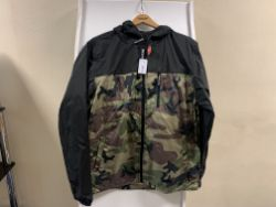 4 X BRAND NEW DC SHOE CO WATER RESISTANT CAMO PRINT JACKETS IN VARIOUS SIZES RRP £60 EACH