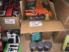 48 PIECE MIXED LOT INCLUDING ARMOR ALL WIPES, ANTI-BAC WIPES, ETC