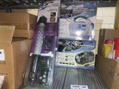 MIXED LOT INCLUDING 2 X CORDLESS LED INSPECTION LAMPS, 1 X RING DUAL VOLTAGE STANDARD CHARGE 6 AND 1