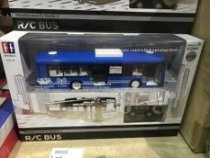 REMOTE CONTROL BLUE BUS WITH OPENING DOORS RRP £110