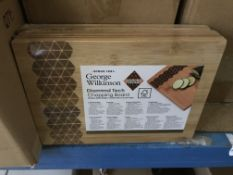 12 X GEORGE WILKINSON DIAMOND TECH CHOPPING BOARDS IN 1 BOX