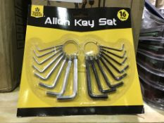 22 X 16 PIECE TOOL TECH ALLEN KEY SETS