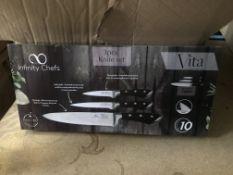 2 X VITA INFINITY CHEFS 3 PIECE KNIFE SETS