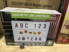 9 X GLOBAL GIZMOS MAGNETIC LED LIGHTBOX