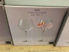 2 X SETS OF 4 GIN COPA GLASSES