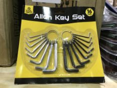 23 X 16 PIECE TOOL TECH ALLEN KEY SETS