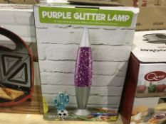 3 X GLOBAL GIZMOS PURPLE GLITTER LAMPS