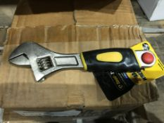 """12 X TOOL TECH 6"""" ADJUSTABLE WRENCH"""