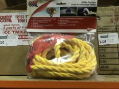 16 X AUTO CARE 2000KG TOW ROPES
