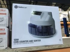 SAFE SCAN 1250 COIN COUNTER AND SORTER