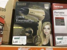 3 X BAUER PROFESSIONAL 2200 WATT TOURMA PRO HAIR DRYERS