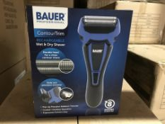 BAUER PROFESSIONAL CONTOUR TRIM RECHARGEABLE WET AND DRY SHAVER