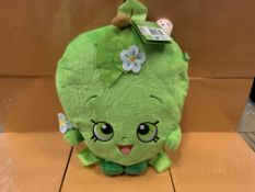 10 X BRAND NEW SHOPKINS APPLE PLUSH BACKPACKS
