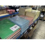 ;ARGE QUANTITY OF PUMP BOARDS AND PAPERS IN VARIOUS COLOURS AND SIZES