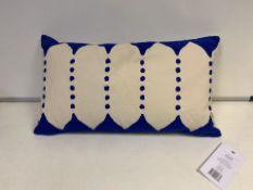 8 X BRAND NEW JAY ST. BLOCK PRINT COMPANY DALANA CUSHION RRP £30 (128/19)