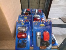 16 X BRAND NEW BIKEPLAN FRONT AND REAR BICYCLE LIGHT SETS